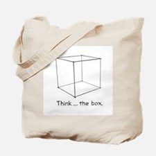 """Think ... the box."" Tote Bag"