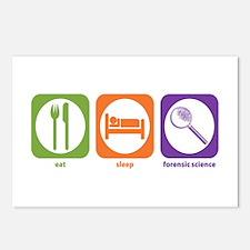 Eat Sleep Forensic Postcards (Package of 8)