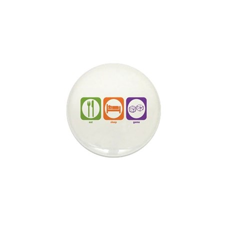 Eat Sleep Game Mini Button