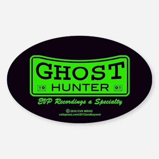 Ghost Hunter Green Sticker (Oval)
