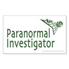 Paranormal Investigator Rectangle Decal