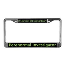Paranormal Investigator License Plate Frame