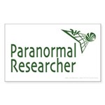Paranormal Researcher Rectangle Sticker