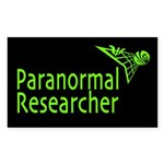 Paranormal Researcher Dark Rectangle Sticker