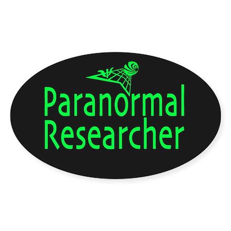 Paranormal Researcher Dark Oval Sticker