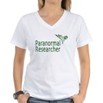 Paranormal Researcher Women's V-Neck T-Shirt