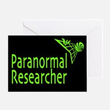 Paranormal Researcher Greeting Card