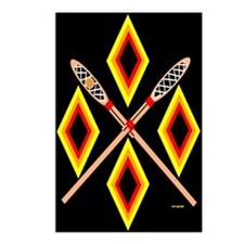 SOUTHEAST TRIBAL STICKBALL Postcards (Package of 8