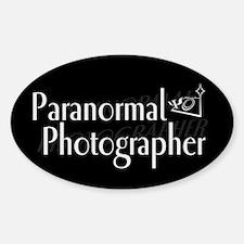Paranormal Photographer Dark Oval Decal