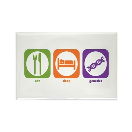 Eat Sleep Genetics Rectangle Magnet (10 pack)