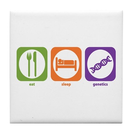 Eat Sleep Genetics Tile Coaster