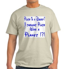 Pluto: Dwarf or Planet? Ash Grey T-Shirt