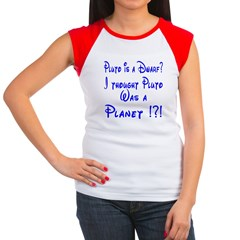 Pluto: Dwarf or Planet? Women's Cap Sleeve T-Shirt