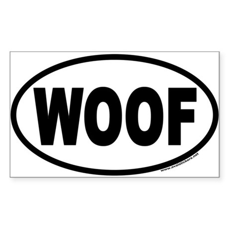 WOOF Euro Oval Sticker for Dog Lover Sticker