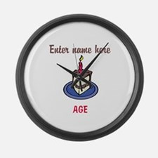 Personalized Birthday Cake Large Wall Clock