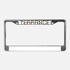 Terrance Circuit License Plate Frame