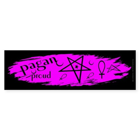 Proud Pagan Dark Bumper Sticker