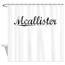 Mcallister, Vintage Shower Curtain