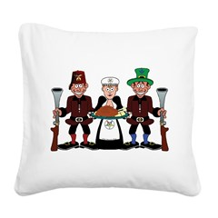 Happy Thanksgiving Square Canvas Pillow