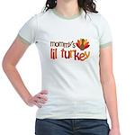 Mommy's Lil Turkey Jr. Ringer T-Shirt