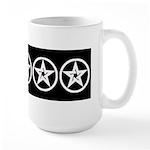 Pentagram Black and White As Above Large Mug