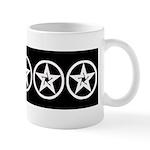 Pentagram Black and White As Above Mug