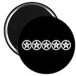 Pentagram Black and White As Above Magnet