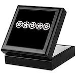 Pentagram Black and White As Above Keepsake Box