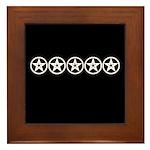 Pentagram Black and White As Above Framed Tile