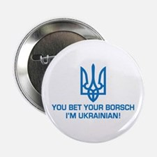 "Funny Ukrainian Borsch 2.25"" Button"