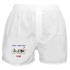Personalized Birthday Train Boxer Shorts