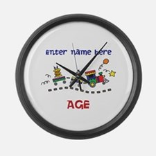 Personalized Birthday Train Large Wall Clock