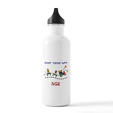 Personalized Birthday Train Water Bottle