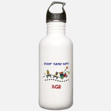 Personalized Birthday Train Water Bottle