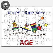 Personalized Birthday Train Puzzle