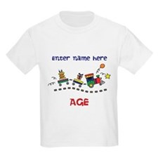 Personalized Birthday Train T-Shirt