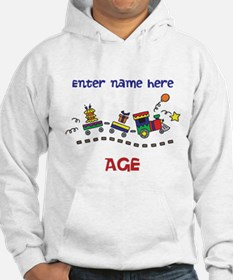 Personalized Birthday Train Jumper Hoody