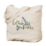 Captain Destructo Tote Bag