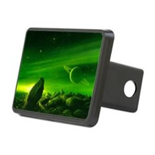 Alien ringed planet, artwork - Hitch Cover