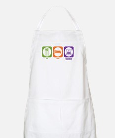 Eat Sleep Information BBQ Apron