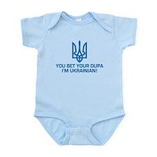 Funny Ukrainian Dupa Infant Bodysuit