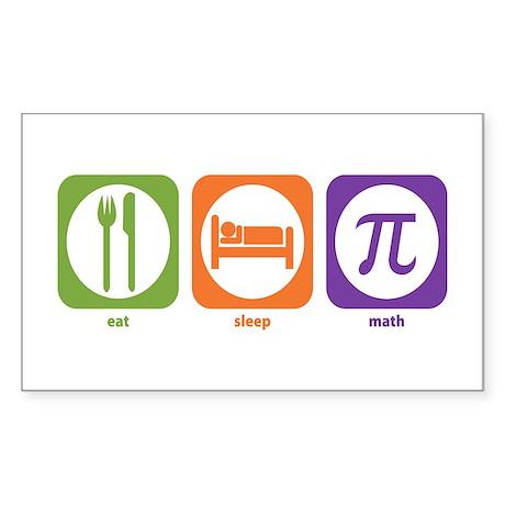 Eat Sleep Math Rectangle Sticker