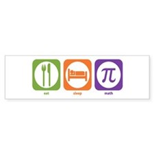 Eat Sleep Math Bumper Bumper Sticker