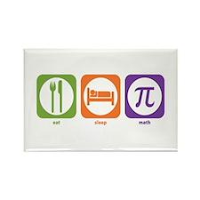 Eat Sleep Math Rectangle Magnet (100 pack)