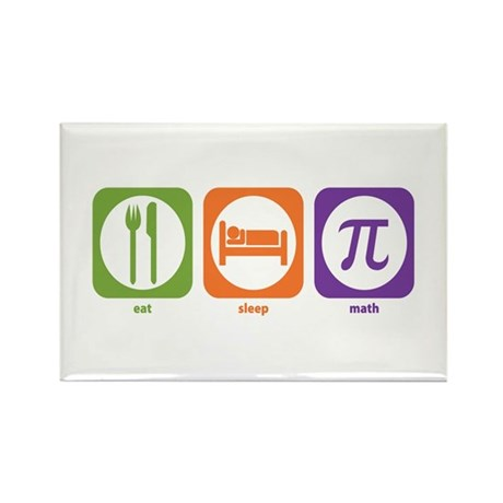 Eat Sleep Math Rectangle Magnet (10 pack)
