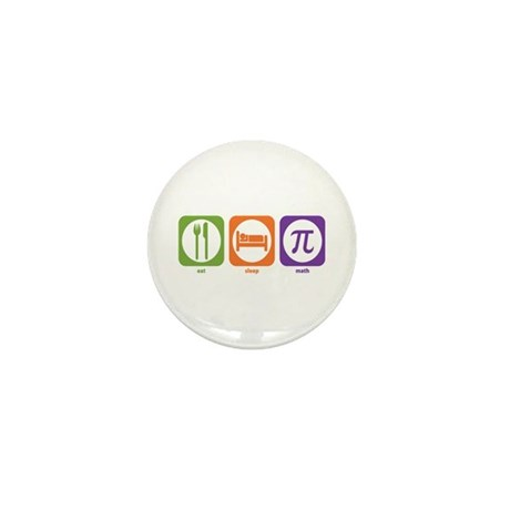 Eat Sleep Math Mini Button (10 pack)