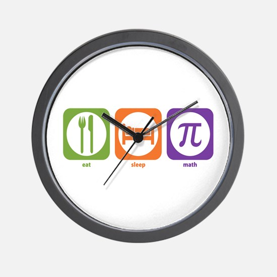 Eat Sleep Math Wall Clock