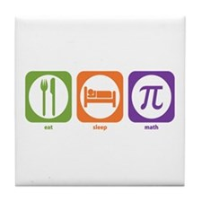 Eat Sleep Math Tile Coaster
