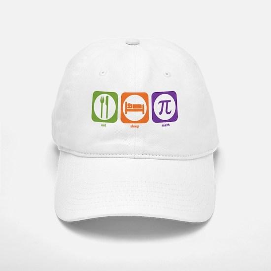 Eat Sleep Math Baseball Baseball Cap