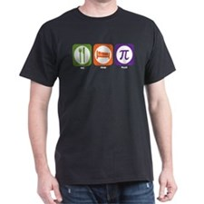 Eat Sleep Math Black T-Shirt